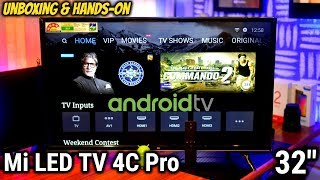 """Cheapest Android TV EVER by Xiaomi Mi TV 4C PRO 32"""" Unboxing & Hands on Review 