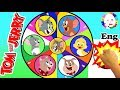 Tom and Jerry  Surprise Wheel Game Find the Hidden Treasure with Quacker + Spike + Tyke Baby Tuffy