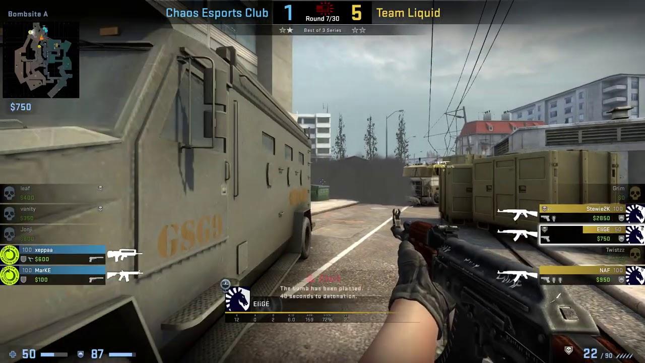CS:GO POV Demo Liquid EliGE (31/16) vs Chaos (de_overpass)