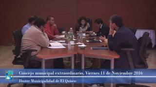 Concejo Municipal extraordinario Viernes 11 de Noviembre 2016
