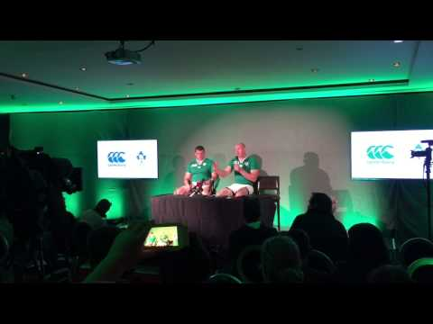 RWC2015 Canterbury Kit Launch with Paul O'Connell, Rob Kearney & Jack McGrath