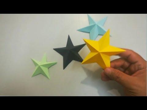 Estrella de Papel fácil - Star making - Estrella de Origami - easy paper Stars