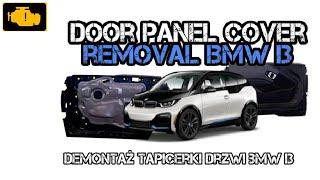 Door panel cover removal bmw i3 - Demontaż tapicerki drzwi Bmw i3