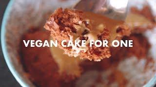 Super Easy VEGAN Microwave Cake for One