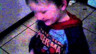 Daniel dancing to the everybody wash song from sesame street