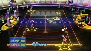SEGA Superstars Tennis Xbox 360 Gameplay - Doubles Action
