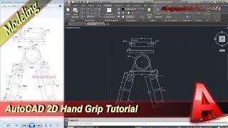 2D Hand Grip Design | Autocad Tutorial | Practice Exercise 30