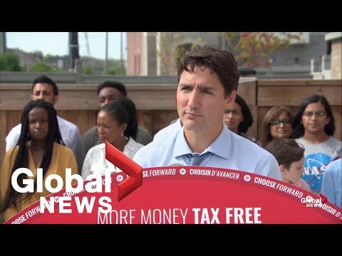 Canada Election: Justin Trudeau Announces Cell Phone Cuts, Change To Taxes | FULL