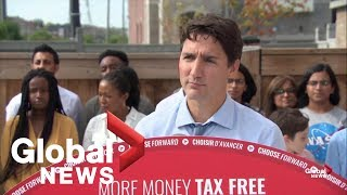 canada election justin trudeau announces cell phone cuts change to taxes full