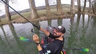 Kayak Bass Fishing- Broken Rod and Flying Jigs