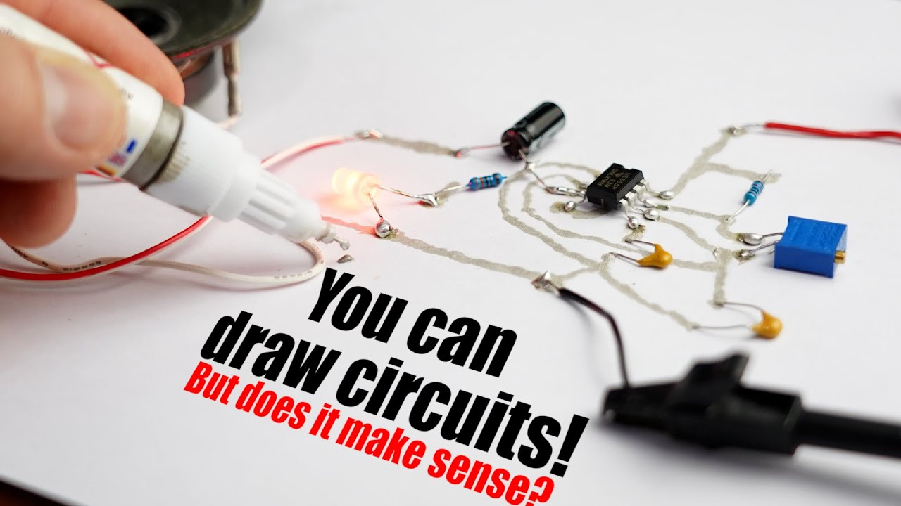 You can draw circuits! But does it make sense? Conductive Ink Pen Experiment!