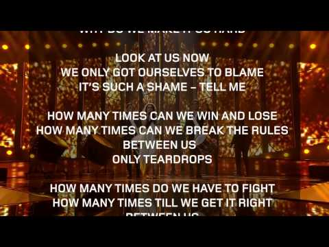 Only Teardrops - Karaoke Version with Lyrics (Denmark - Eurovision 2013)