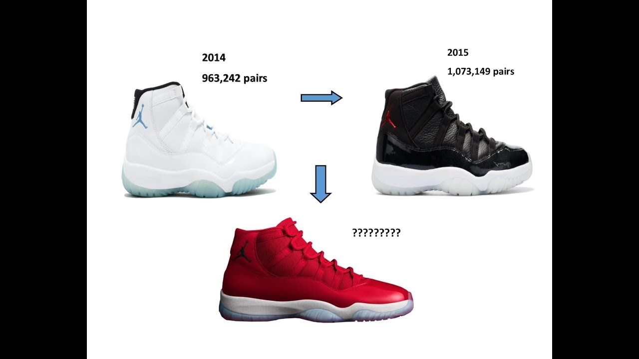 new product 64cda 70464 ... top quality how many pairs of the air jordan 11 win like 96 were  produced should