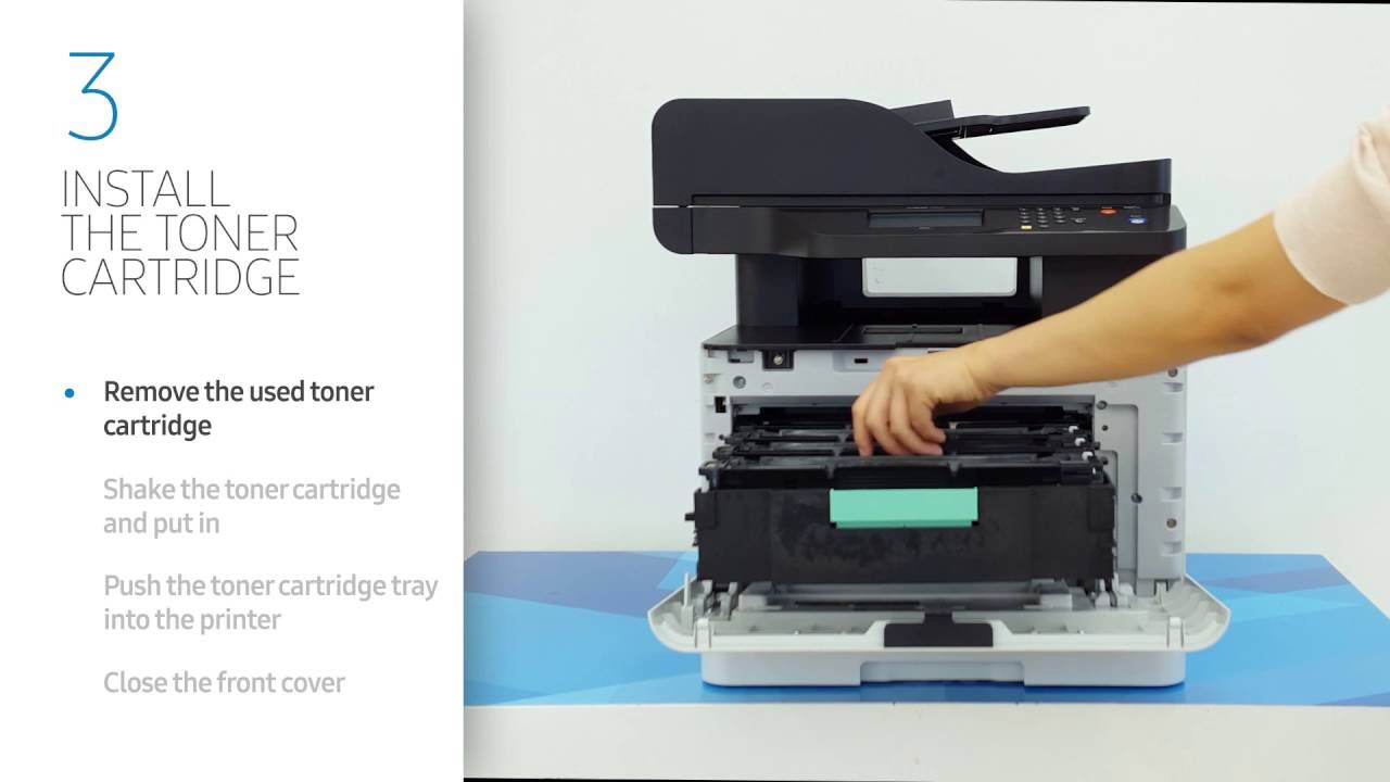 samsung how to get toner catridge out of case