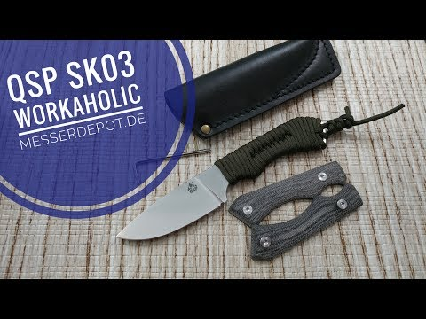 QSP Quality, Service, And Price Workaholic Fixed Blade   Design By Sven Kinast Of Messer Depot