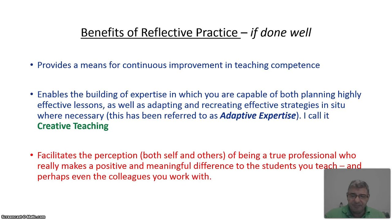 assignment302 what is reflective practice Reflective teaching practice in adult esl settings  maryann cunningham florez, national center for esl literacy education march 2001 for those working in.