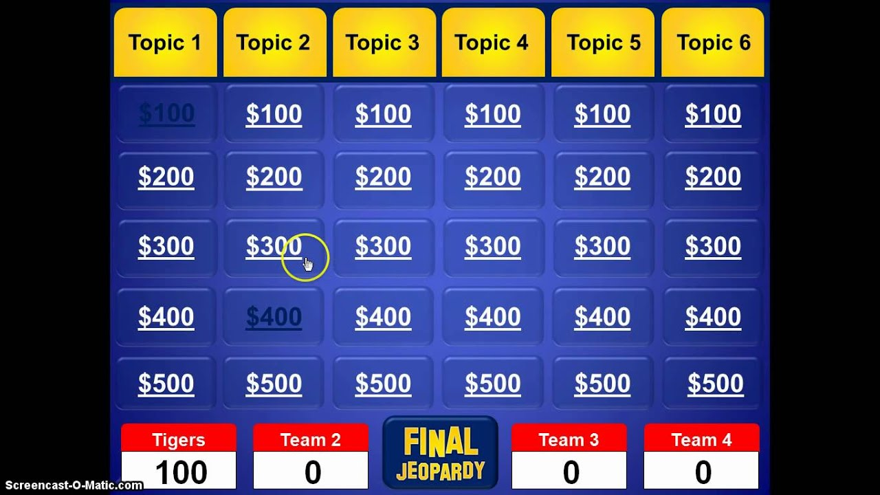 Jeopardy powerpoint template youtube for How to create power point template