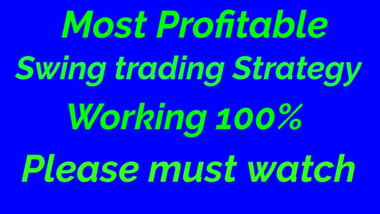 Most profitable Swing trading strategy | Best Swing ...