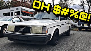 The FIRST DRIVE In My Old Volvo 240 Was VERY SKETCHY