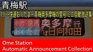 【宇都宮型】青梅駅 ホリデー快速おくたま・青梅奥多摩梅の里号 ミニ自動放送集
