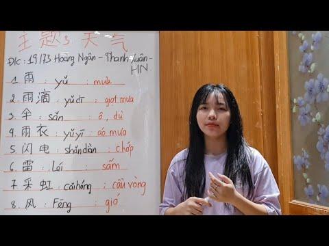 Chủ Đề THỜI TIẾT Tiếng Trung 天气 | Học Tiếng Trung Online | Ngoại Ngữ HCG