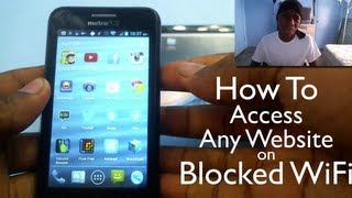 How To Access Any Website on Blocked Wifi (On Mobile)