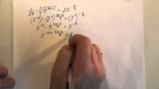 ЕГЭ по математике. Решение показательных  уравнений - 1