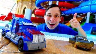 Гонки в аквапарке! – Трансформеры или машинки? – Видео с играми  для мальчиков.(, 2018-04-18T12:20:18.000Z)