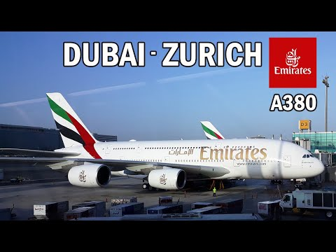 Emirates A380 Full Flight Report | Dubai to Zurich Emirates EK 87 Double Decker