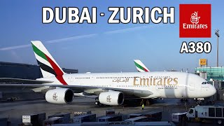 Emirates Airlines A380 Economy Class | Dubai to Zurich | Full Flight Report
