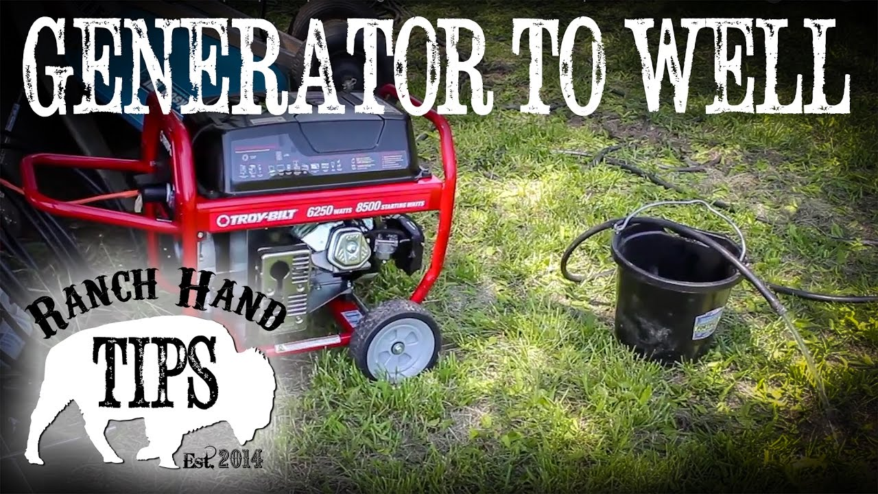 How to run a submersible well pump off a portable generator  Ranch Hand Tips  YouTube