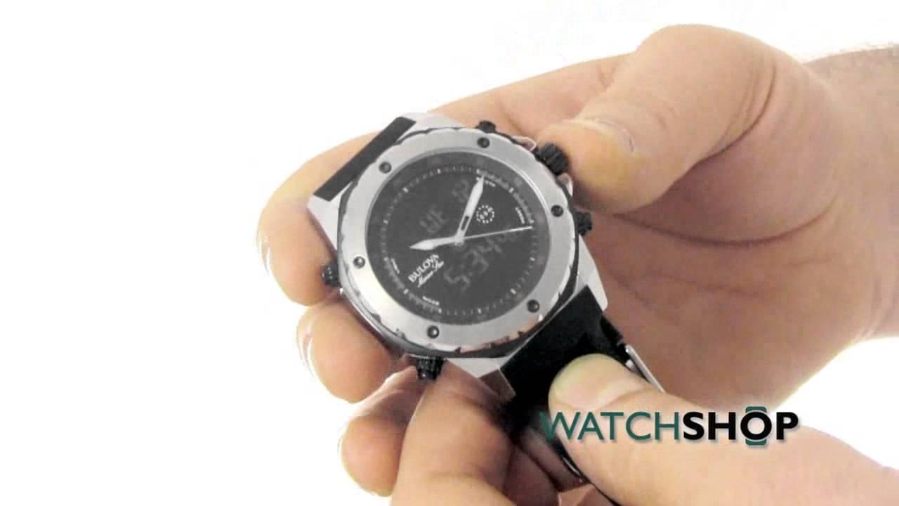 be6ce3ebd Men's Bulova Marine Star Alarm Chronograph Watch (98C119) - YouTube