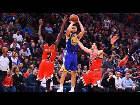 Klay Thompson NBA Record 14 Threes! 52 Points vs Bulls! 2018-19 NBA Season