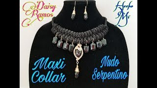 4cb3aa111dbd Maxi Collar Nudo de Serpiente
