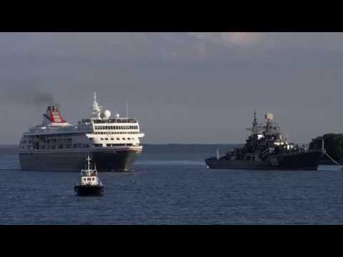 "Круизный лайнер ""Браемар"" в порту Балтийска"