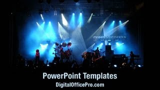 Live Concert PowerPoint Template Backgrounds - DigitalOfficePro #04084W