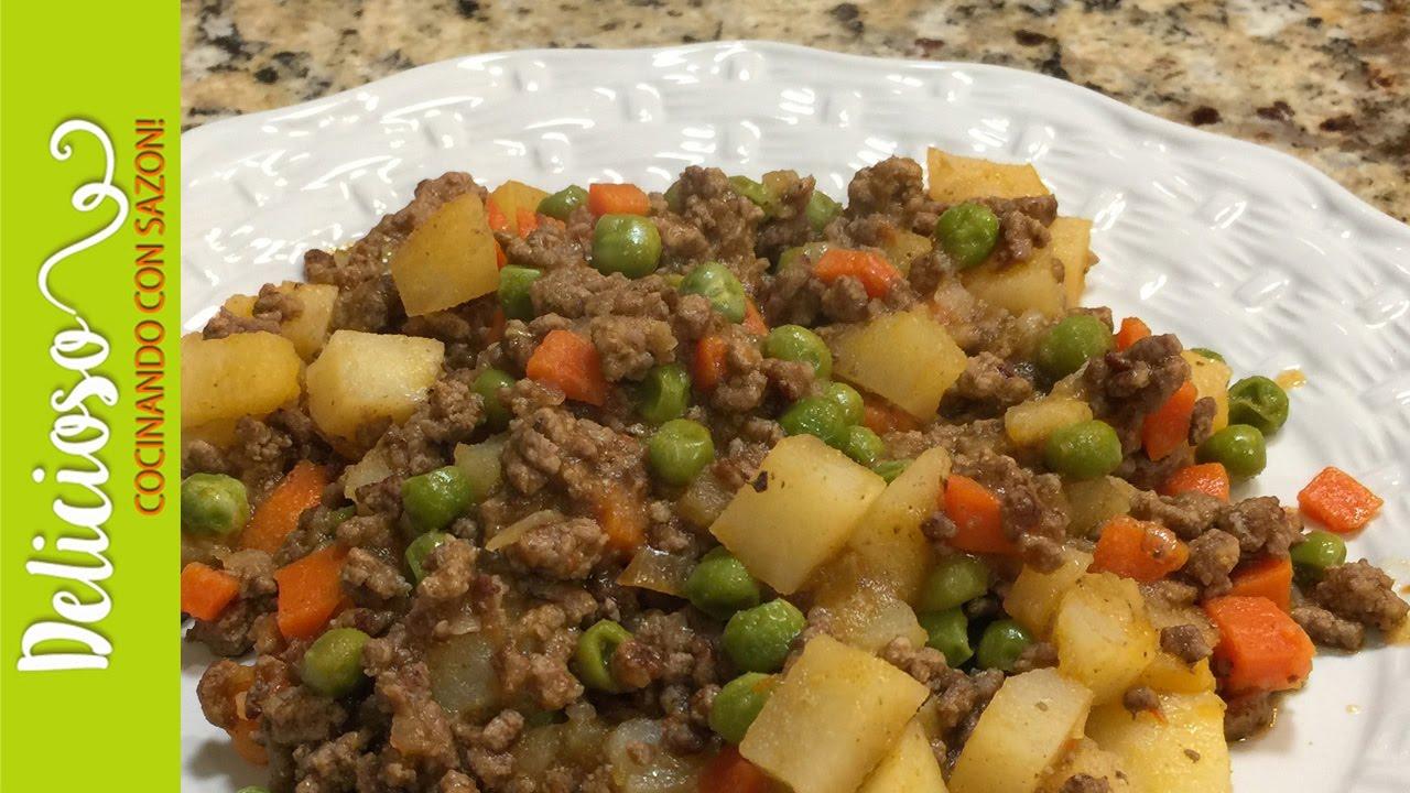 recetas con carne picada y papas