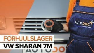 Hvordan bytte forhjulslager på VW SHARAN 7M [BRUKSANVISNING]