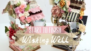 Tutorial Diy - Wishing Well With Graphic45 Papers