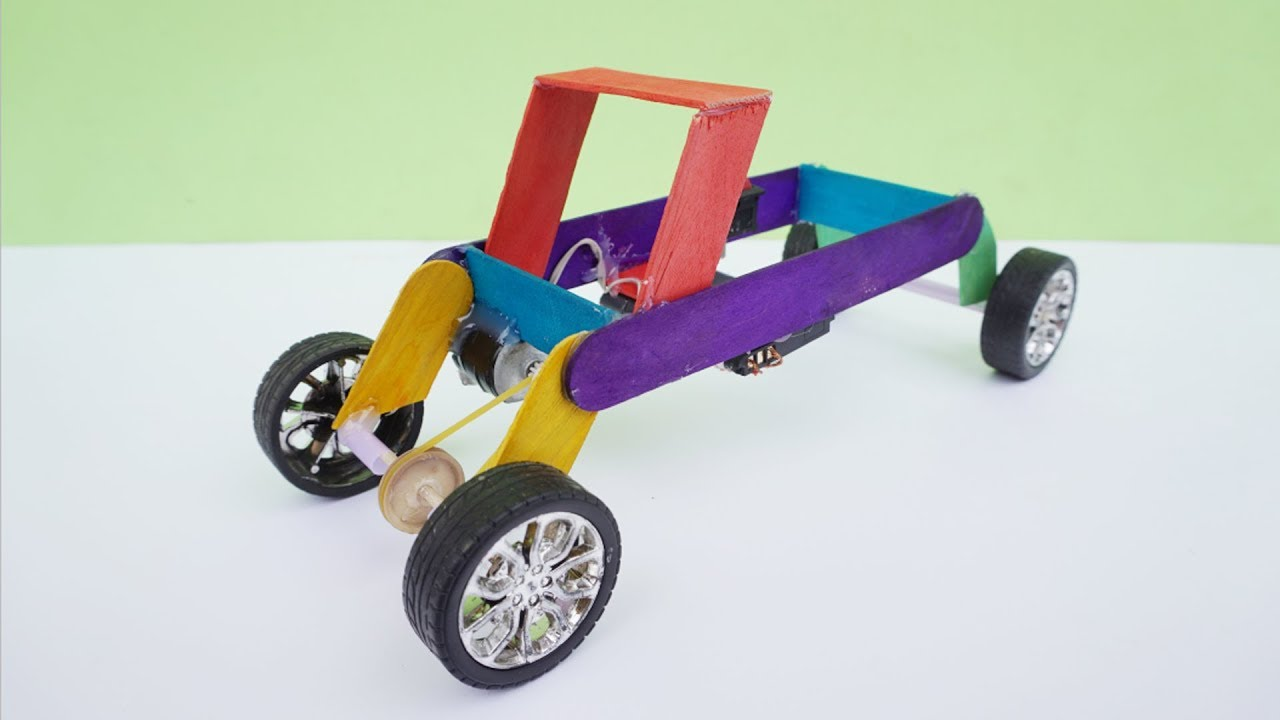 How To Make Rc Car Tractor Diy Electric Toy Car Easy Homemade