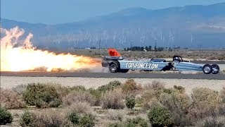 Smoke N' Thunder Jet Car at Los Angeles County Air Show 2014