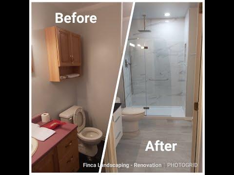 Basement Bathroom Remodel Time Lapse
