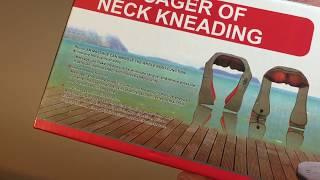 Массажер для шеи, плеч и спины с инфракрасным-прогревом    MASSAGER OF NECK KNEADING