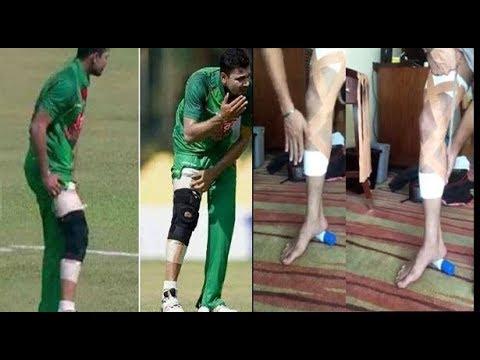 ?????? ???? ????????? ????? ???? ????? ???????! | Mashrafe bin Mortaza Bandage his Leg