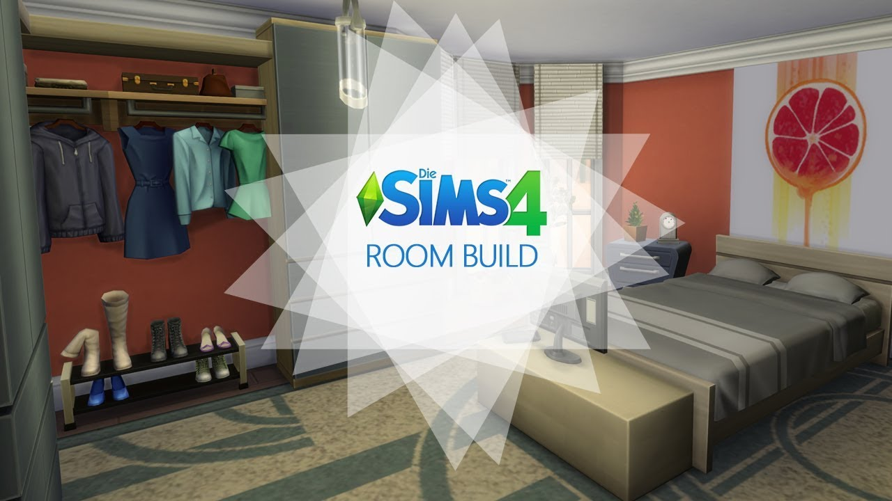 Sims 4 - Room Build - Oranges Schlafzimmer / Orange bedroom - YouTube