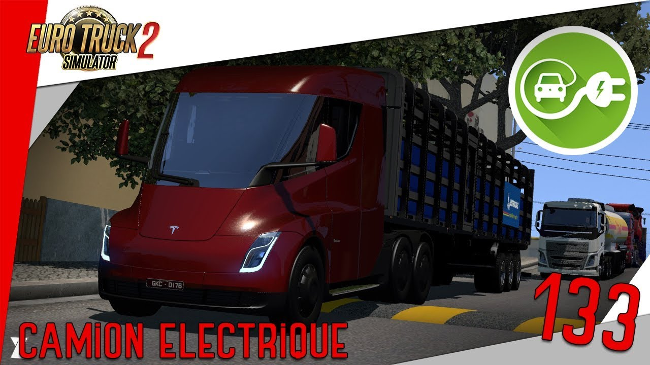 euro truck simulator 2 133 camion lectrique tesla youtube. Black Bedroom Furniture Sets. Home Design Ideas