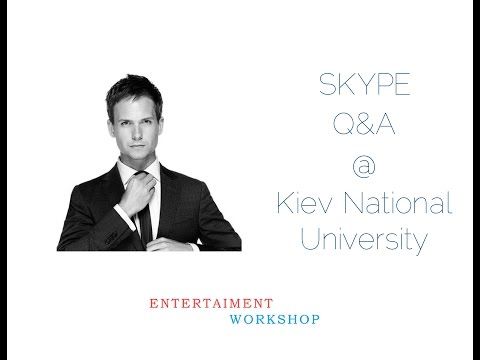 Patrick J. Adams Skype Q&A @ Kiev National University