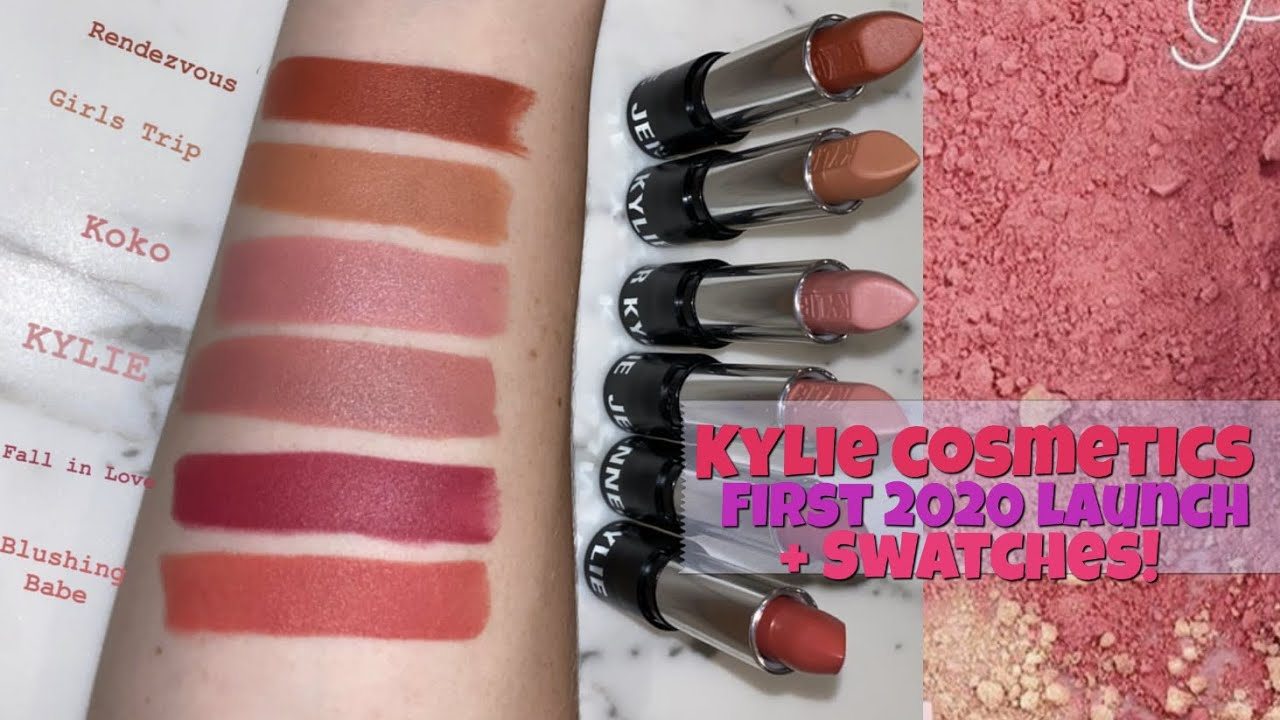 KYLIE COSMETICS FIRST LAUNCH OF 2020 REVEAL + SWATCHES - YouTube