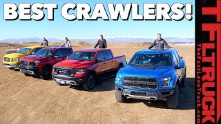 Ford Raptor vs Chevy TrailBoss vs Ram Rebel vs Titan PRO-4X (Slowest Drag Race: Gold Winch Ep.6)
