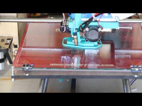 Prusa Nozzle MkII all metal hotend on a Makerfarm Prusa i3 3D printer